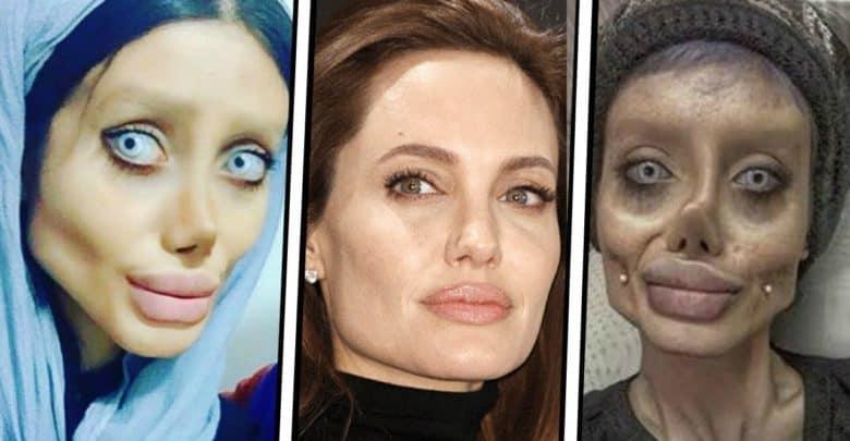 Sahar Tabar Foto >> Sorprende aspecto de mujer que se operó para parecer Angelina Jolie